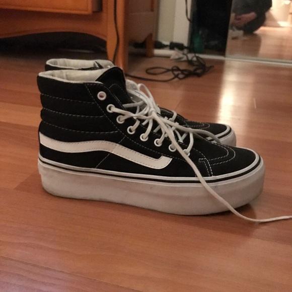 71266820c18 Vans high top platform sneakers. M 5a8ce02572ea883f64cad4b6